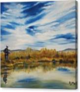 Wishing I Was Fishing Canvas Print