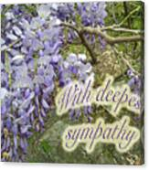 Wisteria Sympathy Card Canvas Print