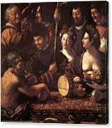 Witchcraft Allegory Of Hercules 1535 Canvas Print