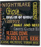 Witchcraft Typography Canvas Print