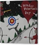 Witches Valentine's Day Canvas Print