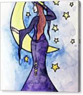 Witchy Moon Canvas Print