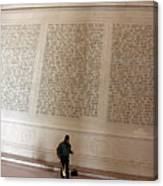 With Malice Toward None With Charity For All -- President Lincoln's Second Inaugural Address Canvas Print