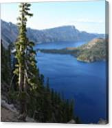 Wizard Island On Crater Lake Canvas Print