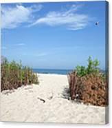 Wladyslawowo White Sand Beach At Baltic Sea Canvas Print