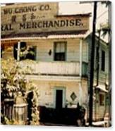 Wo Chong General Store Courtland Ca Canvas Print