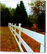 Wodden Fence  Canvas Print