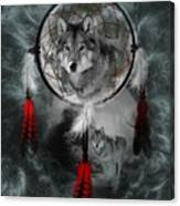 Wolf Dreamcatcher Canvas Print