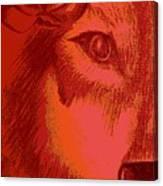 Wolf Flower Canvas Print