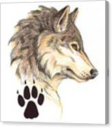 Wolf Head Profile Canvas Print