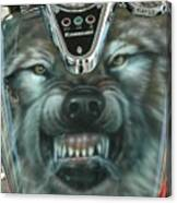 Wolf Motorcycle Gas Tank Canvas Print
