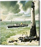 Wolf Rock Lighthouse At Land's End Canvas Print