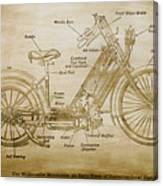 Wolfmueller Motor Cycle 1894 Canvas Print