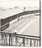 Wolverhampton - Molineux - Waterloo Road Stand 1 - Bw - Leitch - September 1968 Canvas Print