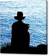 Woman And Water Canvas Print