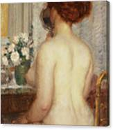 Woman At A Dressing Table Canvas Print