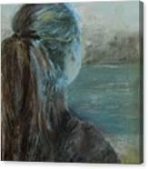 Woman At Bay Canvas Print