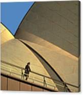 Woman At Sydney Opera House Canvas Print