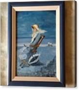 Woman At The Beach Canvas Print