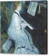 Woman At The Piano Canvas Print
