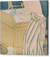 Woman Bathing Canvas Print