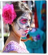 Woman Beautiful Day Of The Dead  Canvas Print