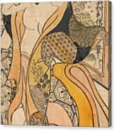 Woman Disrobing Canvas Print