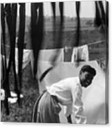 Woman Doing Laundry, C1902 Canvas Print