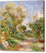 Woman In A Landscape Canvas Print