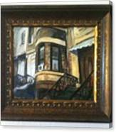 Woman In A Window Canvas Print
