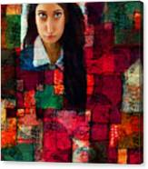 Woman In Abstract 454 Canvas Print