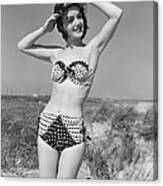 Woman In Bikini, C.1950s Canvas Print