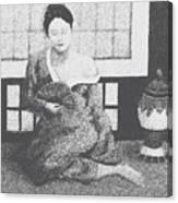 Woman In Kimono Canvas Print