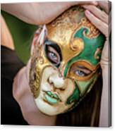 Woman In Mask Canvas Print