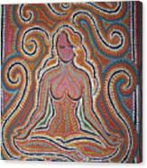 Woman In Meditative Bliss Canvas Print