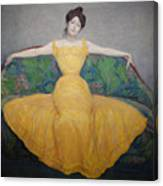 Woman In A Yellow Dress Canvas Print