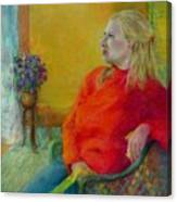 Woman In Red      Copyrighted Canvas Print