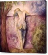 Woman In The Garden 2 Canvas Print