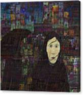 Woman In The Rain Canvas Print