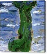 Woman In The Wind By The Sea 1907 Canvas Print