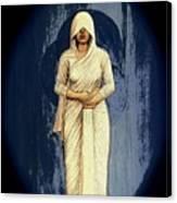 Woman In White - Widow Canvas Print