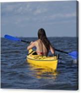 Woman Kayaking Canvas Print