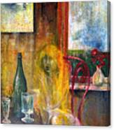 Woman Near Window  Canvas Print