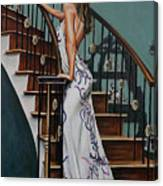 Woman On A Staircase 3 Canvas Print