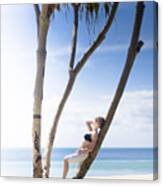 Woman On Holiday Canvas Print