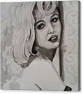 Woman On Wall Canvas Print