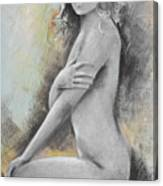 Woman Painted Canvas Print
