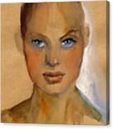 Woman Portrait Sketch Canvas Print