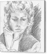Woman Reading A Book Canvas Print