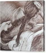 Woman Reclining Canvas Print